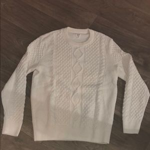 Gap Creme Colored Cable Knit Sweater